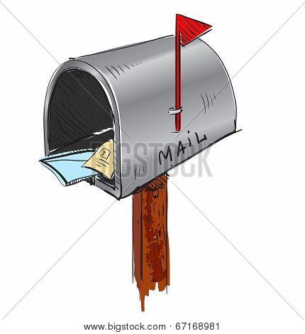 Mailbox cartoon icon