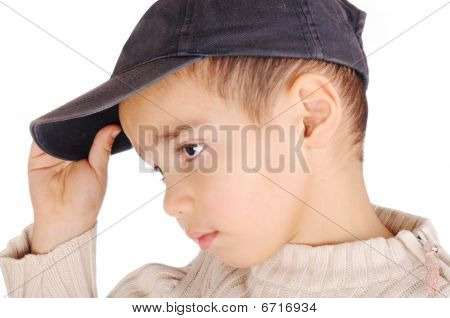 Boy With Denim Cap