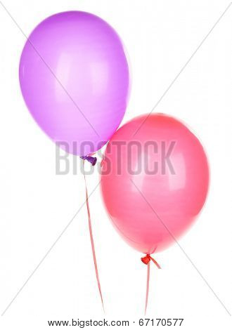 Color balloons, isolated on white
