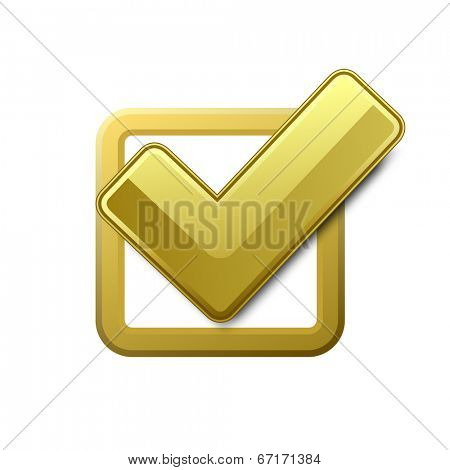 Yellow check box with check mark