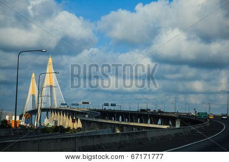 Cable-stayed Bridge In Bangkok, Thailand