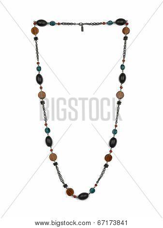 Female Necklace Isolated On White