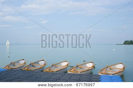Empty Boats At Lake Balaton