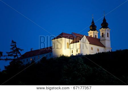 Tihany Abbey At Night.