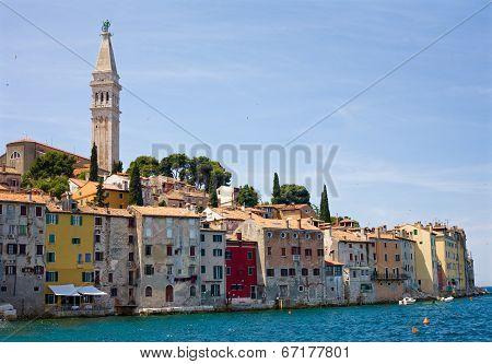Croatia - Rovinj - Houses And Belfry