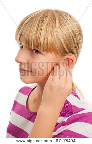 Wearing A Hearing Aid