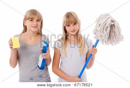 Teens Cleaning