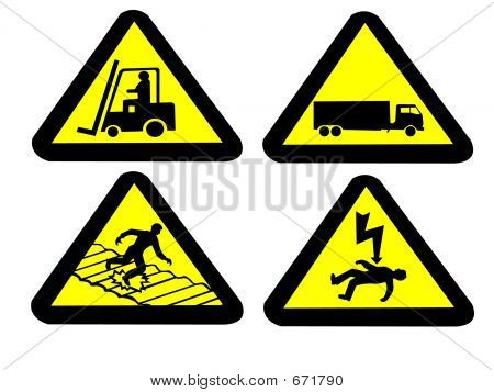 Industrielle Hazard Signs