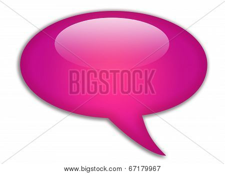Glassy speech bubble