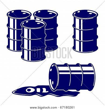 Barrel oil icon  set symbol vector  illustration