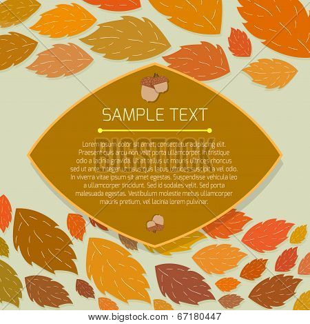 Autumn thanksgiving frame