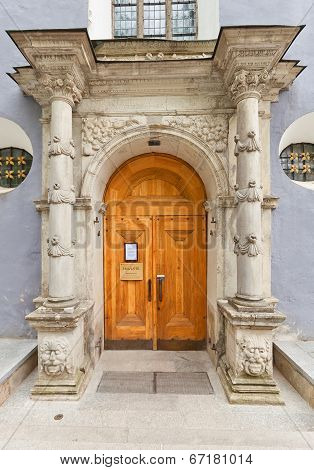 Portal Of St. Nicholas Church (xiii C.). Tallinn, Estonia