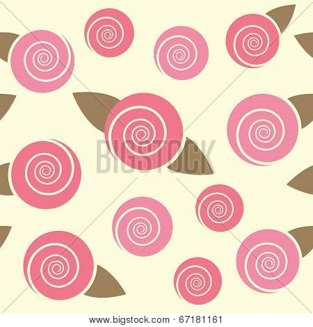 Floral seamless pattern with roses.