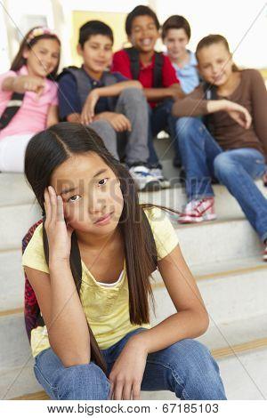 Girl being bullied in school