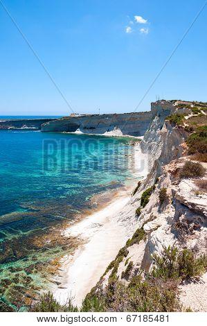 Cliffs, Coast Of Malta