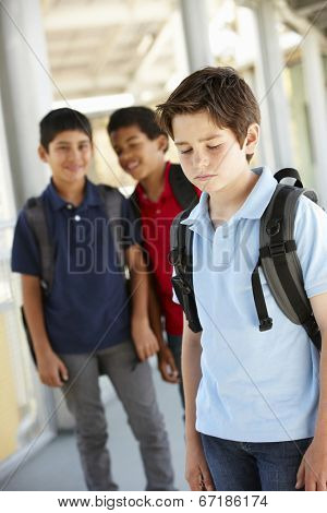 Boy being bullied in school