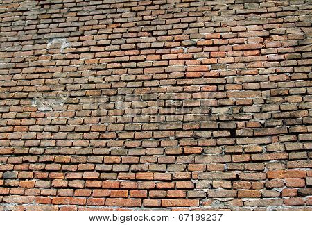 Red Bricks Of An Impassable Wall Ideal As Textures Or Background