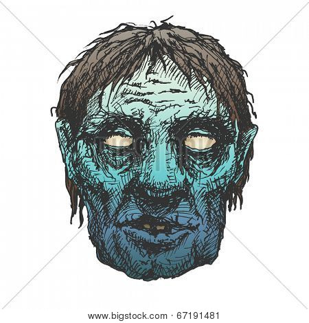 zombie. hand drawn. vector eps8