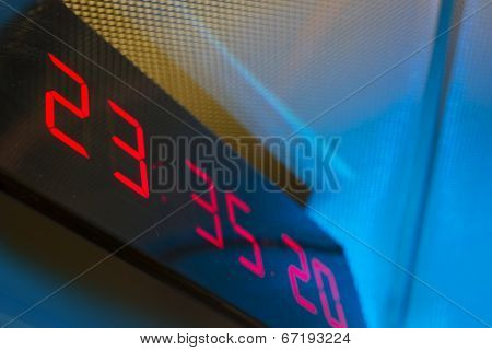 Digital clock on the wall