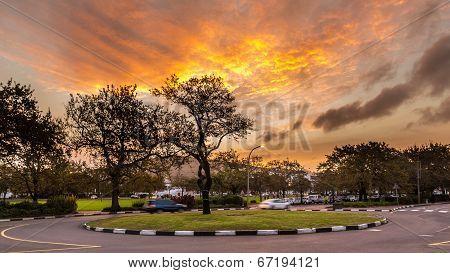 Roundabout At Stellenbosch