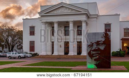 Mandela Statue In Stellenbosch