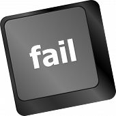 picture of fail-safe  - fail concept with word on key - JPG