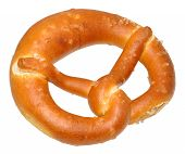 picture of pretzels  - Freshly baked bread pretzel - JPG