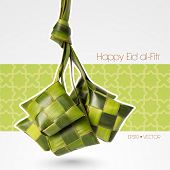 stock photo of hari raya  - Vector Muslim Ketupat  - JPG