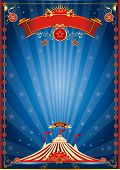pic of funfair  - blue night circus poster - JPG