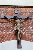 image of apostolic  - crucifix on the front of the Armenian Cathedral in Lviv