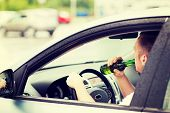 foto of alcohol abuse  - transportation and vehicle concept  - JPG