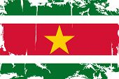 picture of suriname  - Surinam grunge flag - JPG