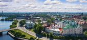 image of olaf  - View from the Tower of Olaf the old town of Vyborg Russia - JPG