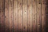 stock photo of log fence  - Background of an old natural wooden darken room with messy and grungy cracked tree floor of beech texture inside vintage - JPG
