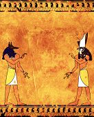 image of anubis  - Background with Egyptian gods images  - JPG