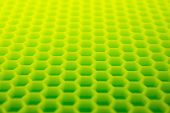 picture of hexagon  - Yellow green hexagon abstract background - JPG