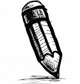 image of pencil eraser  - Pencil icon - JPG