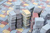 stock photo of paving  - Tile paving - JPG