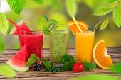 stock photo of fruit-juice  - Fresh fruit juice - JPG