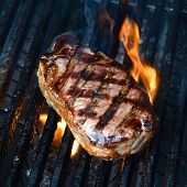 picture of porterhouse steak  - A close up shot of an Australian Porterhouse steak - JPG