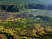 image of building relief  - Villages situated in the caldera of old giant volcano - JPG