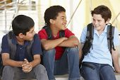 image of pre-teen boy  - Pre teen boys in school - JPG