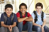 picture of pre-teen boy  - Pre teen boys in school - JPG