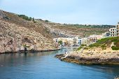 stock photo of gozo  - View over Xlendi town Gozo island Malta - JPG