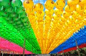 picture of grotto  - paper lanterns hang at seokguram grotto in gyeongju south korea - JPG
