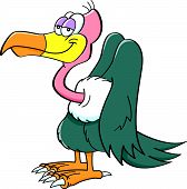 stock photo of buzzard  - Cartoon illustration of a happy smiling buzzard - JPG