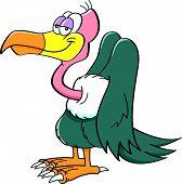 picture of buzzard  - Cartoon illustration of a happy smiling buzzard - JPG