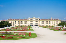 picture of schoenbrunn  - Schoenbrunn Palace in Vienna the historical landmark of Austria - JPG