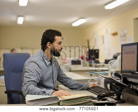 Man Working At Office