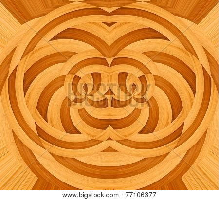 Ornate wooden design